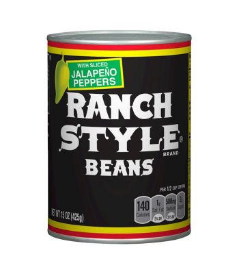 Ranch Style Beans with Sliced Jalapeño Peppers - 15oz (425g) Food and Groceries