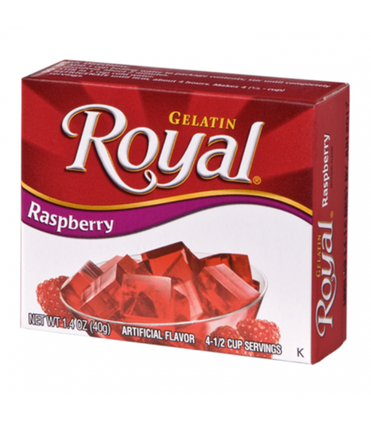 Royal Gelatin - Raspberry - 1.4oz (40g) Sweets and Candy Royal