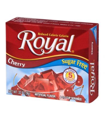 Royal Gelatin Sugar Free - Cherry - 0.32oz (9g) Food and Groceries