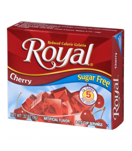 Royal Gelatin Sugar Free - Cherry - 0.32oz (9g) Food and Groceries Royal