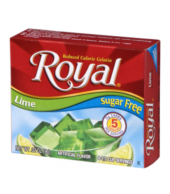 Royal Gelatin Sugar Free - Lime - 0.32oz (9g) Food and Groceries Royal