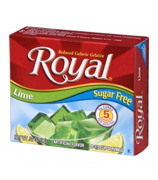 Royal Gelatin Sugar Free - Lime - 0.32oz (9g) Food and Groceries Royal