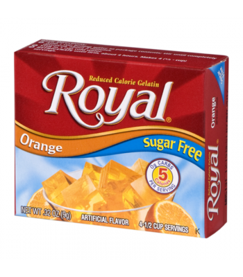 Royal Gelatin Sugar Free - Orange - 0.32oz (9g) Food and Groceries Royal