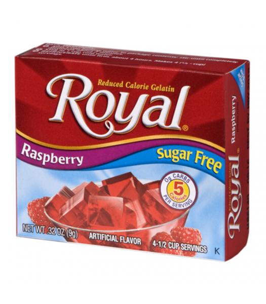 Royal Gelatin Sugar Free - Raspberry - 0.32oz (9g) Food and Groceries Royal