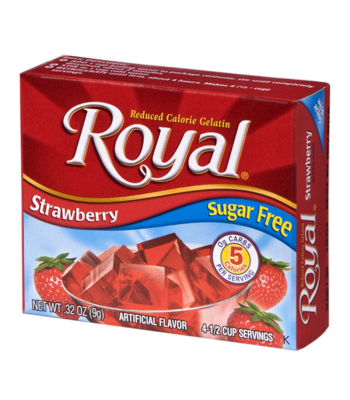 Royal Gelatin Sugar Free - Strawberry - 0.32oz (9g) Food and Groceries