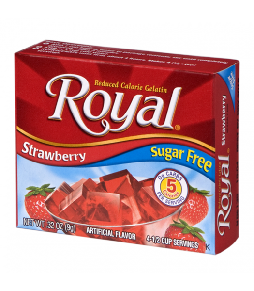 Royal Gelatin Sugar Free - Strawberry - 0.32oz (9g) Food and Groceries Royal