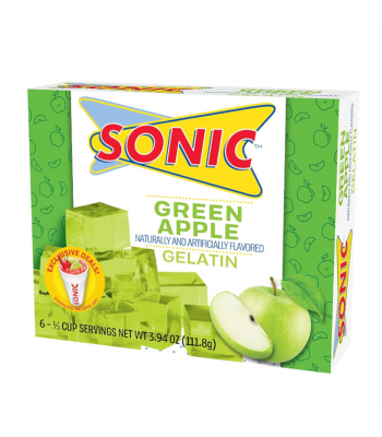 Sonic Gelatin Green Apple - 3.94oz (111.8g) Food and Groceries