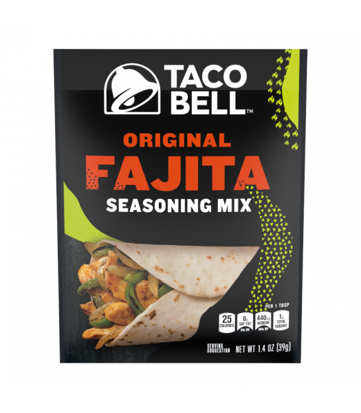 Taco Bell Original Fajita Seasoning Mix - 1.4oz (39g) Food and Groceries Taco Bell