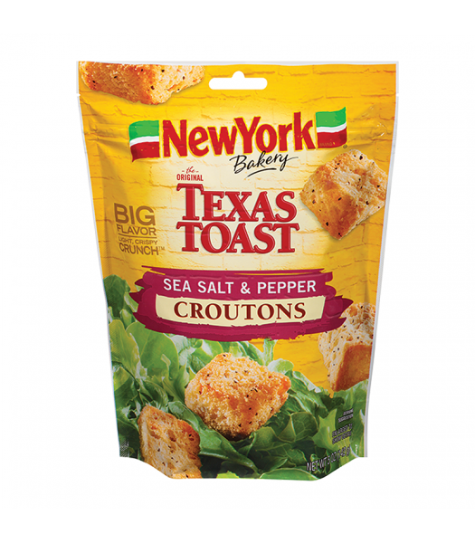 Texas Toast Sea Salt & Pepper Croutons - 5oz (142g) Food and Groceries