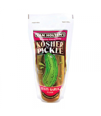 Van Holtens Large Kosher Garlic Pickle In-a-Pouch Food and Groceries Van Holten's