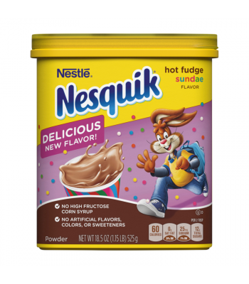 Nesquik Hot Fudge Sundae Drink Mix - 18.5oz (525g) Soda and Drinks