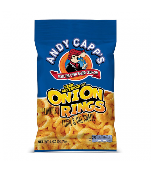 Andy Capp's Beer Battered Onion Rings - 2oz (56.7g) Snacks and Chips Andy Capp's
