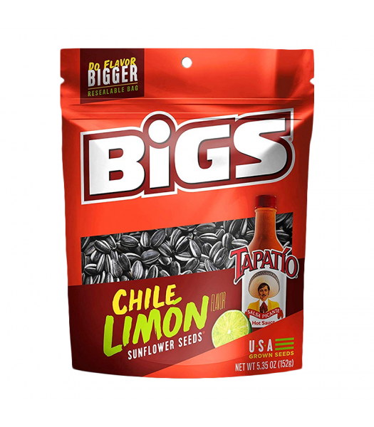 BIGS Sunflower Seeds - Tapatío Chile Limón - 5.35oz (152g) Snacks and Chips