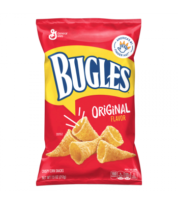 Bugles Original Flavour Corn Snacks - 7.5oz (212g) Snacks and Chips General Mills