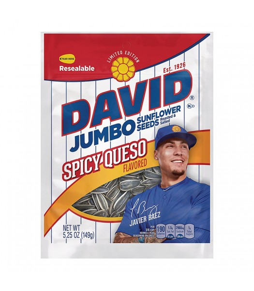 David's Sunflower Seeds Spicy Queso 5.25oz (149g) Snacks and Chips