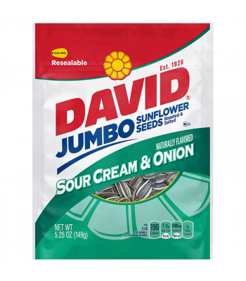 David's Sunflower Seeds Sour Cream & Onion 5.25oz (149g) Snacks and Chips David