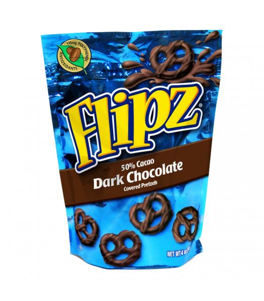 DeMet's Flipz Dark Chocolate Covered Pretzels 4oz (113g) Pretzel Snacks DeMet's