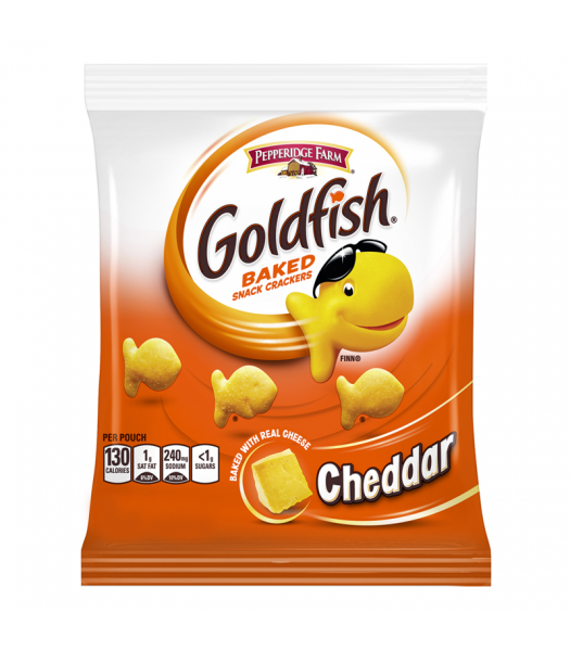 Pepperidge Farm Goldfish Cheddar Cheese Crackers - 1.5oz (43g) Pretzel Snacks Pepperidge Farm