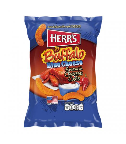 Herr's Cheese Curls - Buffalo Blue Cheese Flavour Puffs - 7oz (199g)