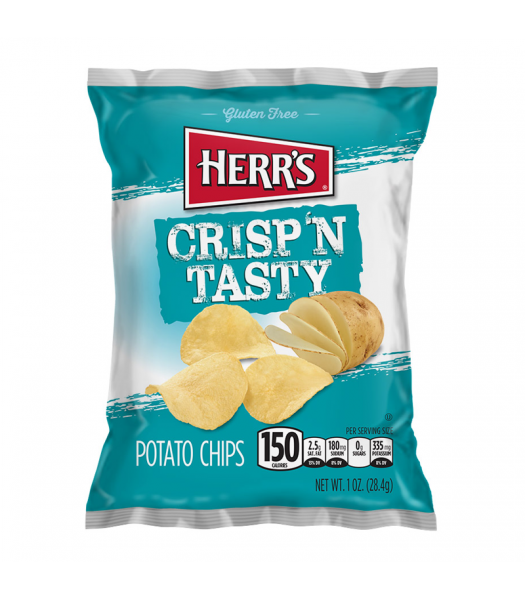 Herr's Regular Crisp n Tasty Potato Chips - 3.5oz (99g) Snacks and Chips Herr's