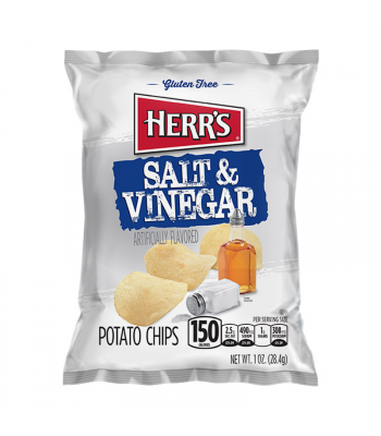 Herr's Salt & Vinegar Potato Chips - 1oz (28.4g) Snacks and Chips Herr's