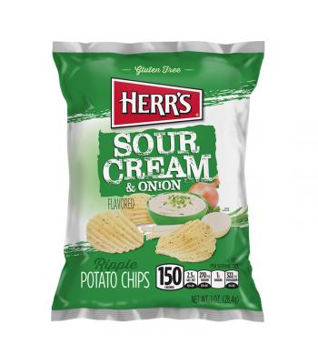 Herr's Sour Cream & Onion Ripples Potato Chips - 1oz (28.4g)