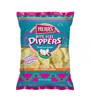 Herr's Bite Size Dippers Tortilla Chips - 12oz (340.2g) Snacks and Chips Herr's