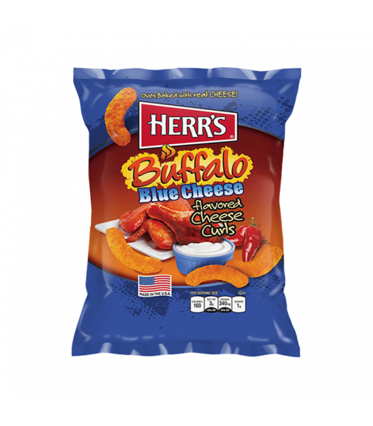 Herr's Buffalo Blue Cheese Curls - 3oz (85.1g) Snacks and Chips Herr's