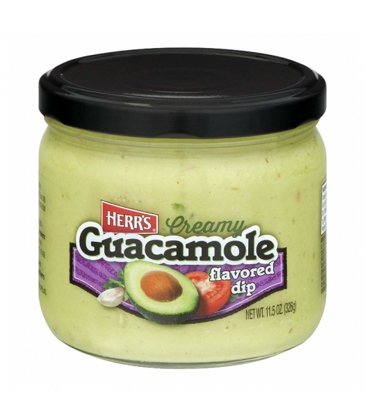 Herr's Creamy Guacamole Flavoured Dip - 11.5oz (326g) Snacks and Chips Herr's