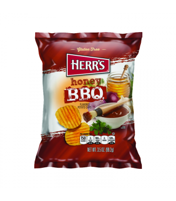Herr's Honey BBQ Potato Chips - 3.5oz (99.2g) Snacks and Chips Herr's