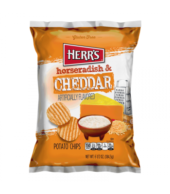 Herr's Horseradish & Cheddar Potato Chips - 6.5oz (184.3g) Snacks and Chips Herr's