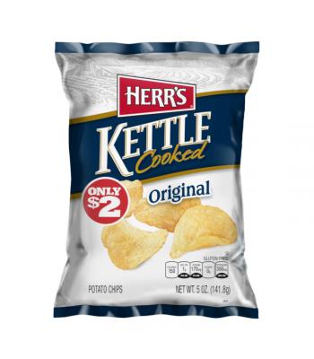 Herr's Original Kettle Cooked Potato Chips - 5oz (141.8g) Snacks and Chips Herr's