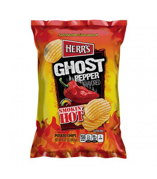 Herr's Smokin' Hot Ghost Pepper Potato Chips - 6.5oz (184.3g) Snacks and Chips Herr's