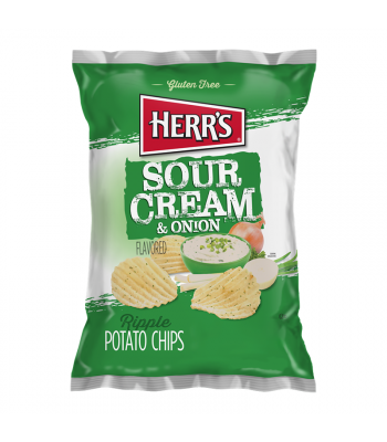 Herr's Chips Sour Cream and Onion - 3.5oz (99g) Snacks and Chips Herr's