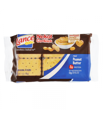 Lance Nekot Cookies Peanut Butter - 6.9oz (195g) Food and Groceries