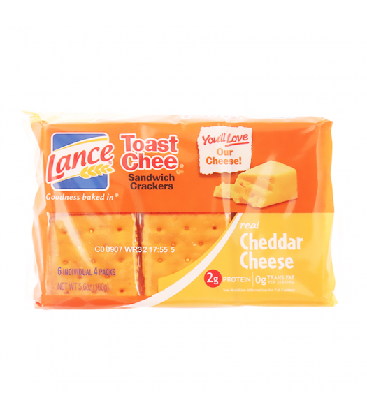 Lance Toast Chee Sandwich Crackers Cheddar - 5.6oz (160g) Food and Groceries
