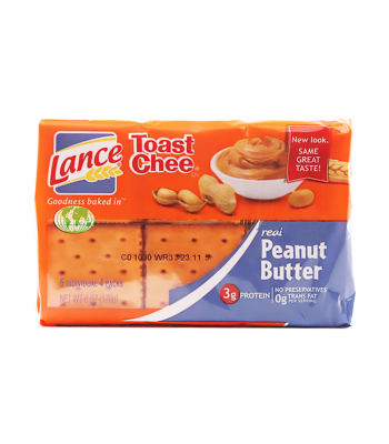 Lance Toast Chee Sandwich Crackers Peanut Butter - 6oz (170g) Food and Groceries
