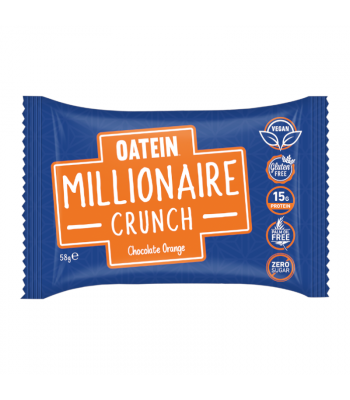 Oatein Millionare Crunch Chocolate Orange - 58g Food and Groceries