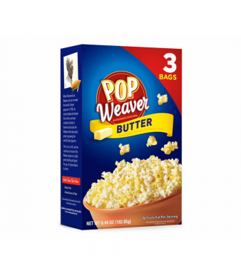 Pop Weaver Butter Popcorn - 3PK (182.85g) Snacks and Chips