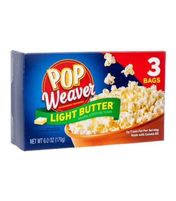 Clearance Special - Pop Weaver Light Butter Popcorn - 3PK (170g) **Best Before: February 21** Clearance Zone