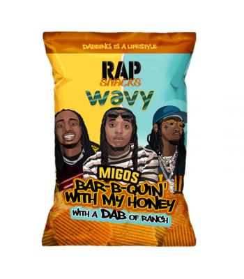 Rap Snacks Wavy Bar-B-Q Honey & Ranch - 2.75oz (78g) Snacks and Chips