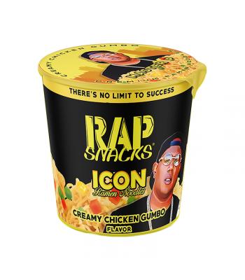Rap Snacks Icon Ramen Noodles - Creamy Chicken Gumbo Ramen Master P - 2.25oz (64g) Pasta & Noodles Rap Snacks