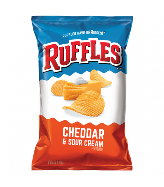 Ruffles Potato Chips Cheddar and Sour Cream 6.5oz (184.2g) Snacks and Chips Ruffles
