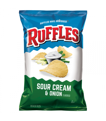 Ruffles Potato Chips Sour Cream & Onion 6.5oz (184.2g)