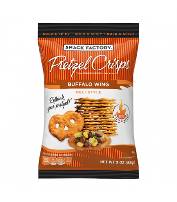 Snack Factory Pretzel Crisps Buffalo Wing 3oz (85g) Food and Groceries
