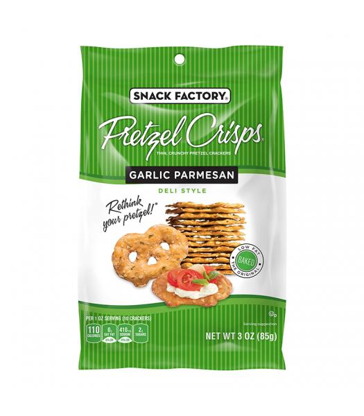 Snack Factory Pretzel Crisps Garlic Parmesan 3oz (85g) Food and Groceries Snack Factory