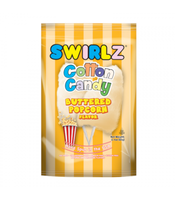 Swirlz Buttered Popcorn Flavour Cotton Candy - 3.1oz (88g) Sweets and Candy