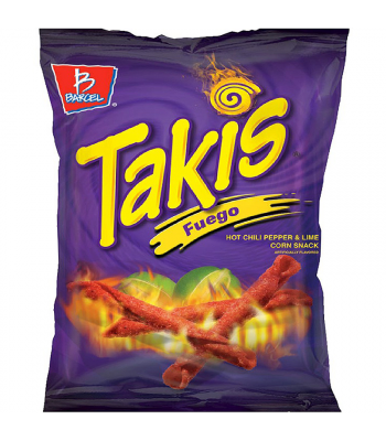 Takis Fuego Hot Chili Pepper & Lime Tortilla Chips 4oz (113.4g) Crisps & Chips
