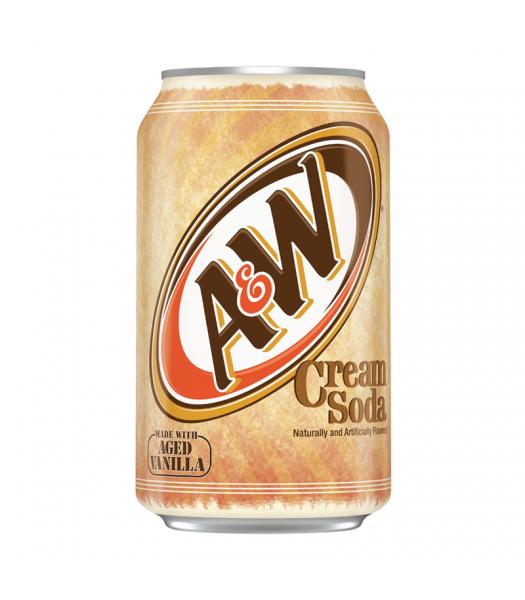 A&W Cream Soda - 12fl.oz (355ml) Soda and Drinks A&W