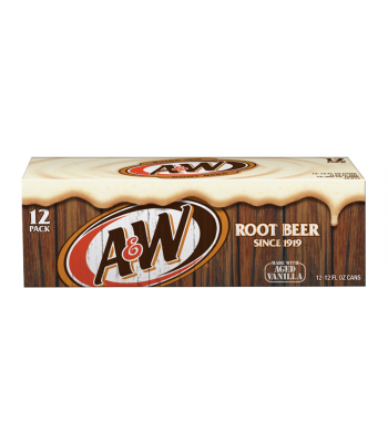 A&W Root Beer - 12-Pack (12 x12fl.oz (355ml)) Soda and Drinks A&W
